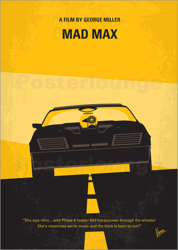 Poster No051 My Mad Max 1 minimal movie poster
