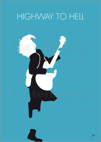 Poster No065 MY ACDC Minimal Music poster