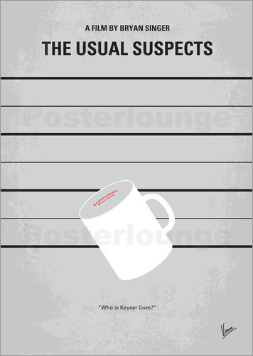 Poster No095 My The usual suspects minimal movie poster