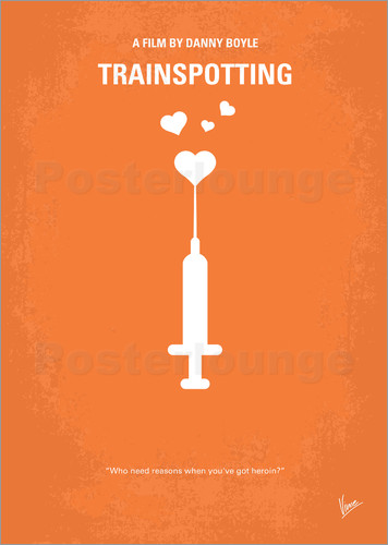 Poster No152 My TRAINSPOTTING minimal movie poster