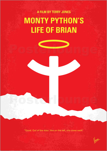 Poster No182 My Monty Pyton Life of brian minimal movie poster