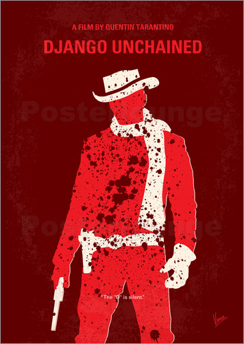 Poster No184 My Django Unchained minimal movie poster