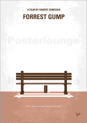Poster No193 My Forrest Gump minimal movie poster