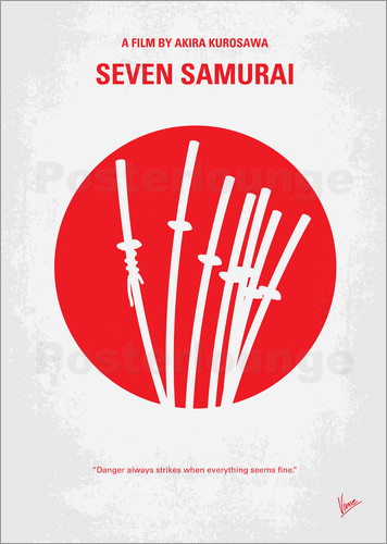 Poster No200 My The Seven Samurai minimal movie poster