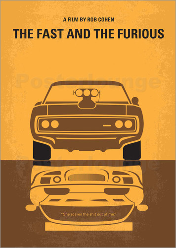 Poster No207 My The Fast and the Furious minimal movie poster