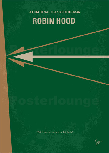 Poster No237 My Robin Hood minimal movie poster