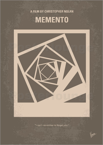Poster No243 My Memento minimal movie poster