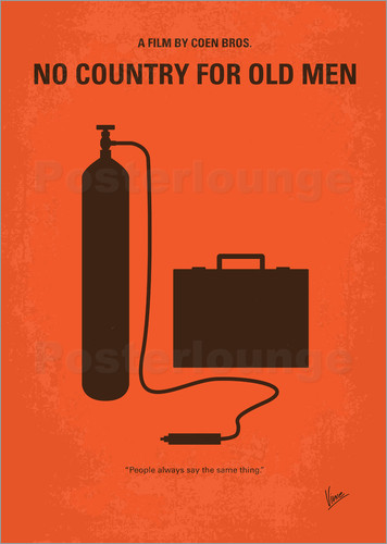 Poster No253 My No Country for Old men minimal movie poster
