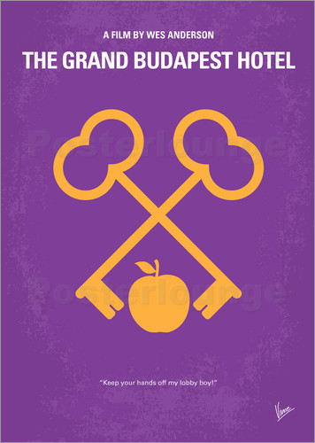 Poster No347 My The Grand Budapest Hotel minimal movie poster