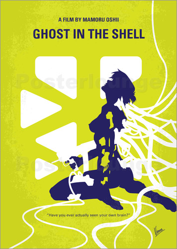 Poster No366 My Ghost in the Shell minimal movie poster