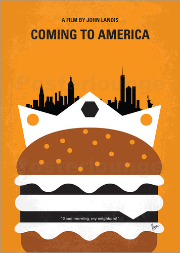 Poster No402 My Coming to America minimal movie poster