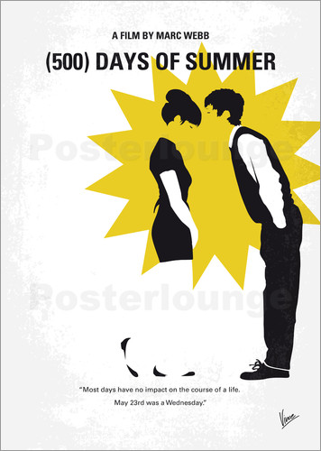 Poster No500 My 500 Days Of Summer minimal movie poster