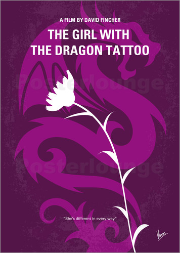 Poster No528 My The Girl with the Dragon Tattoo minimal movie poster