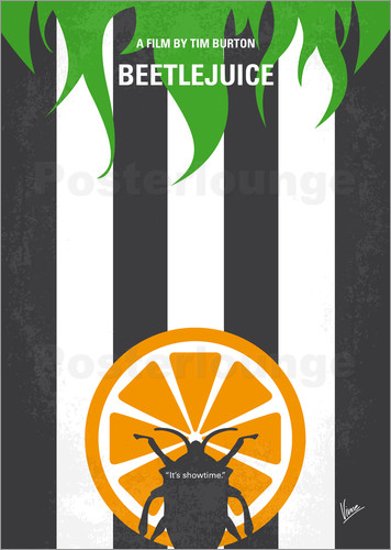 Poster No531 My Beetlejuice minimal movie poster