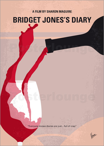 Poster No563 My Bridget Jones Diary minimal movie poster