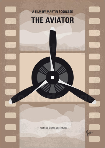 Poster No618 My The Aviator minimal movie poster