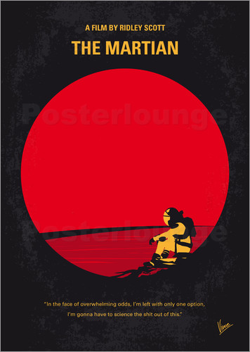 chungkong - No620 My The Martian minimal movie poster