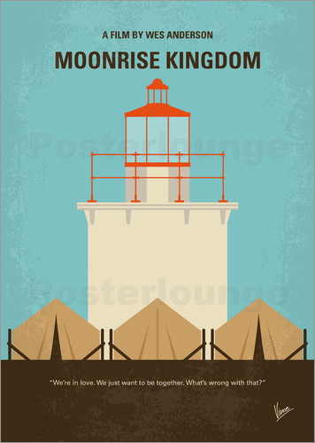 Poster No760 My Moonrise Kingdom minimal movie poster