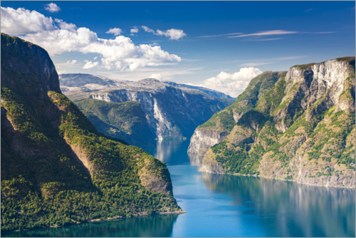 Poster Sognefjord - The King of the Fjords