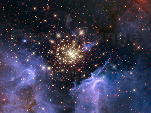 Nasa - Open star cluster NGC 3603, HST image
