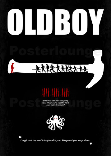 Poster oldboy minimal film movie poster alternative