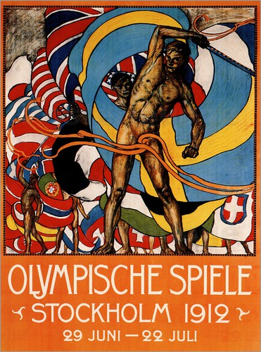Poster Olympic Games 1912 in Stockholm