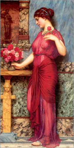John William Godward - An Offering To Venus