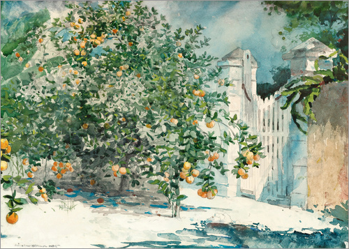 Winslow Homer - Orange Trees and Gate