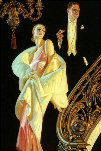 Joseph Christian Leyendecker - Couple in evening wear