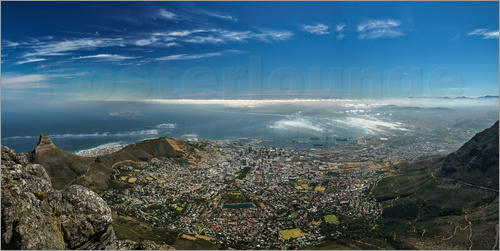 Poster Panorama Cape Town South Africa