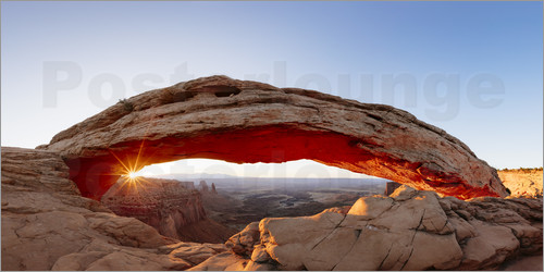 Matteo Colombo - Panoramic of Mesa arch at sunrise, Canyonlands, Utah, USA