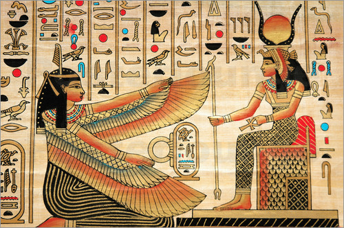 Papyrus with Egyptian characters