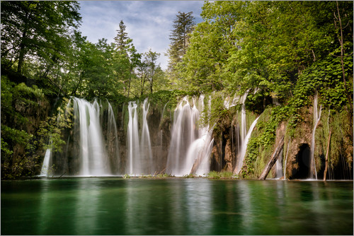 Poster Paradise Waterfall in Plitvice