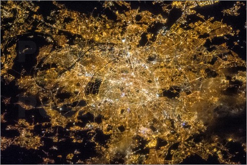 Nasa - Paris by night from above