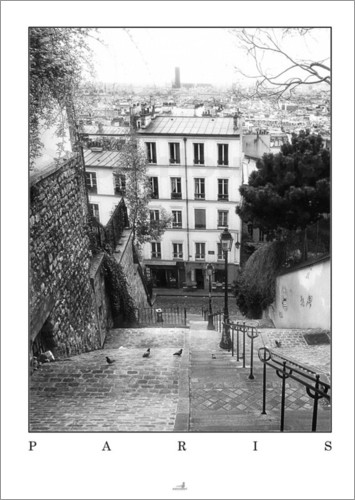 artshot photographic art paris montmartre poster posterlounge. Black Bedroom Furniture Sets. Home Design Ideas