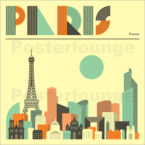 Jazzberry Blue - Paris Skyline