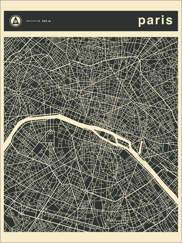 Poster PARIS CITY MAP