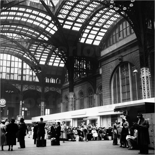 Poster Penn Station, NYC, 1954