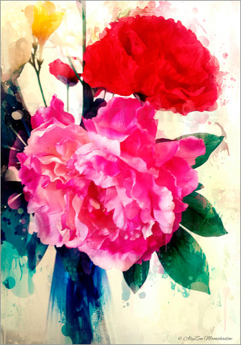 Poster Peony and Poppy, 2014