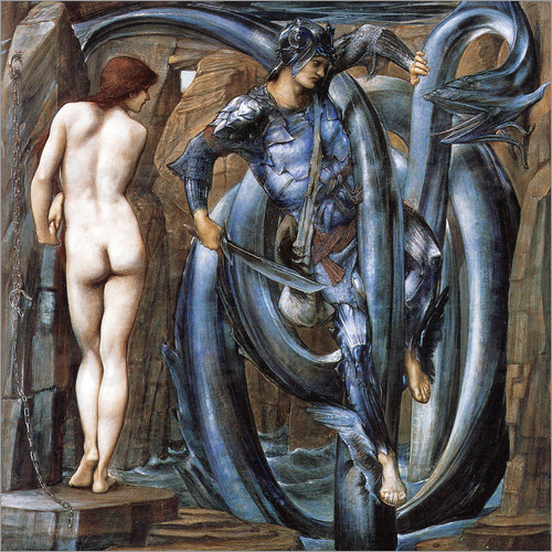 Edward Burne-Jones - Perseus met the fate