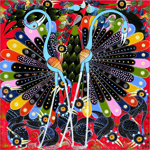 Stephan - Peacock in courtship