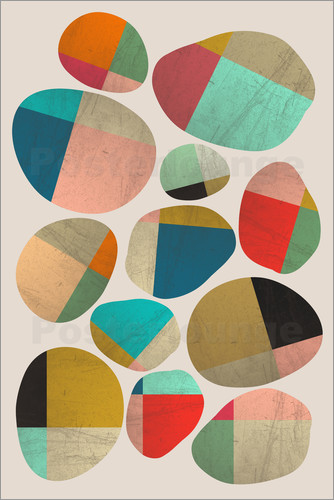 Poster PLAYFUL STONES 01