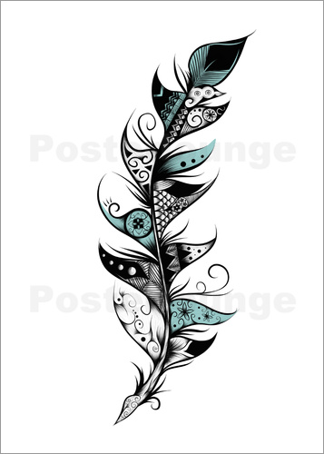 Poster Poetic Feather