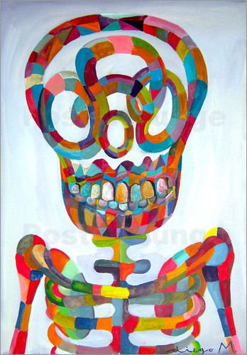Poster Pop Art Skeleton