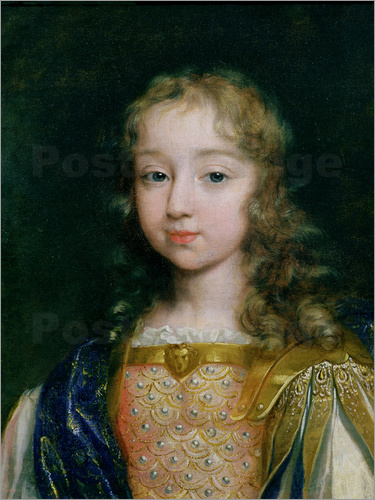 French School Portrait Of Louis XIV As A Child Poster