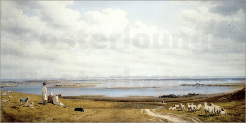 William Turner - Portsmouth Harbour from Portsdown Hill