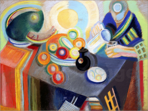 Robert Delaunay - Portuguese Woman pouring something