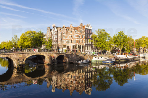 Poster Prinsengracht and Brouwersgracht in Amsterdam