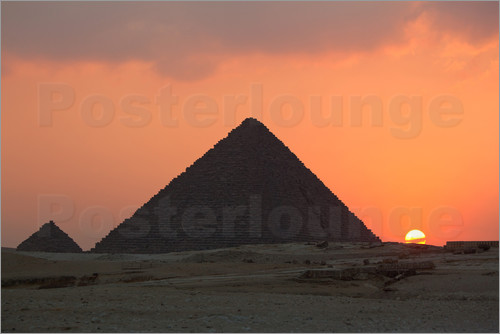 Poster Pyramids of Giza, Cheops