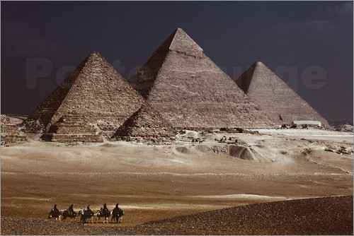 Poster Pyramids of Giza, Middle East